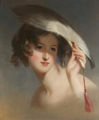 Thomas Sully, Girl with a Fan (Blanche Sully), 1837