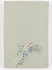 CY TWOMBLY (1928-2011) Some Flowers for Suzanne, 1982 Oil paint, wax crayon and pencil on paper 1133 x 768 mm (44 5/8 x 30 1/4 inches)