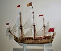 HMS PRINCE c.1670 - Port Profile, Miniature Ship Model