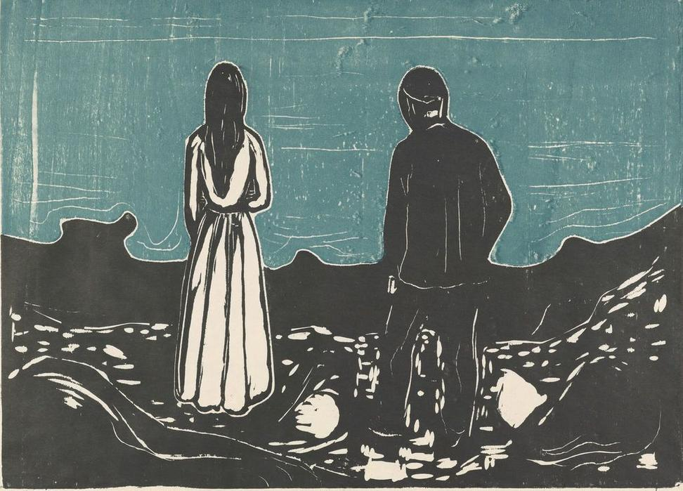 The Lonely Ones, 1899.  Edvard Munch(1863-1944), Munchmuseet