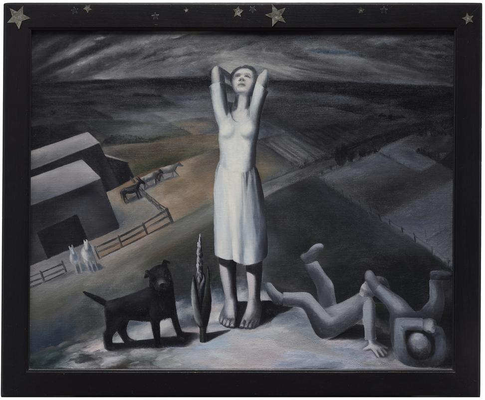 Ida Ten Eyck O'Keeffe (American, 1889–1961) Star Gazing in Texas, 1938.  Oil on canvas, 27 ¾ x 33 ¾ x 1 in.  Dallas Museum of Art, General Acquisitions Fund and Janet Kendall Forsythe Fund in honor of Janet Kendall Forsythe on behalf of the Earl A.  Forsythe family, 2017.36