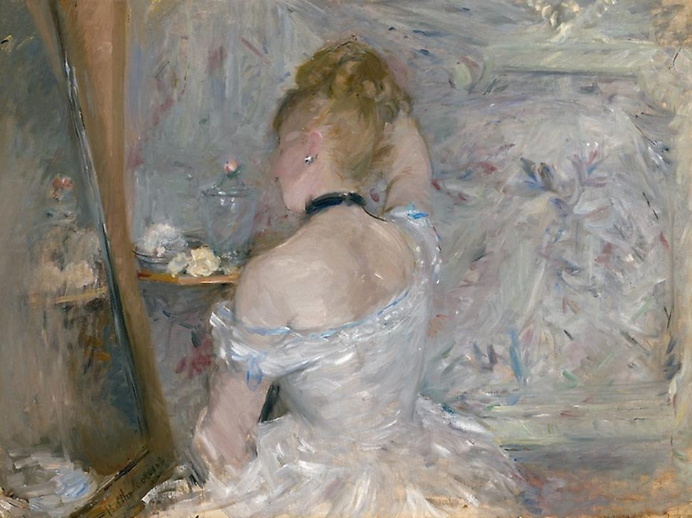 Berthe Morisot, Woman at Her Toilette, 1875–1880, oil on canvas, The Art Institute of Chicago, Inv.  no.  1924.127, Photo courtesy The Art Institute of Chicago / Art Resource, NY