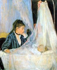 Berthe Morisot, The Cradle, 1872, oil on canvas, Musée d'Orsay, Paris, RF 2849 © Musée d'Orsay, Dist.  RMN-Grand Palais / Patrice Schmidt