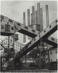 Criss-Crossed Conveyors — Ford Plant, 1927.  (Charles Sheeler/The Lane Collection, courtesy of the Museum of Fine Arts, Boston)