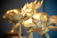 Ai Weiwei's Circle of Animals/Zodiac Heads: Gold on view at the LongHouse Reserve in East Hampton, NY