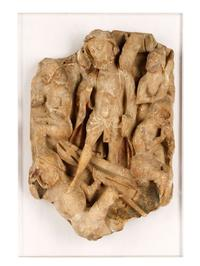This 15th century English Nottingham alabaster relief depicting the Resurrection of Christ is expected to sell for $20,000-$40,000.