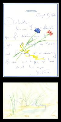 Letter hand-penned in August 1966 by Jacqueline Kennedy to Luella Hennessy, John Jr.'s nanny, written on hand-painted stationery (est.  $3,000-$3,500).