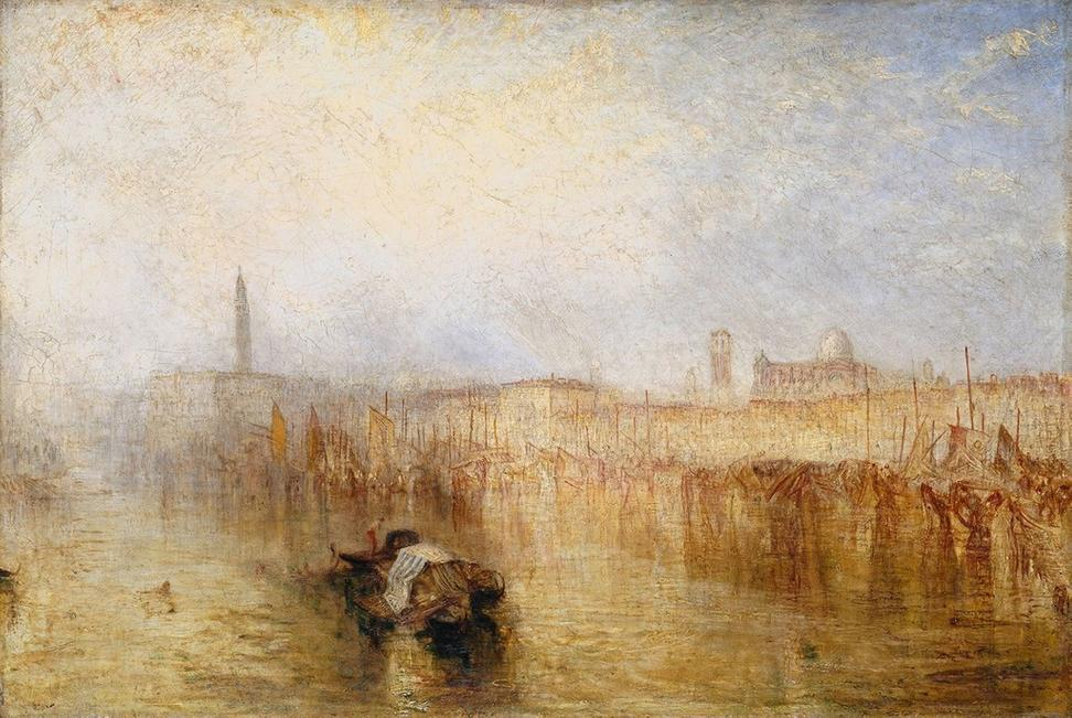 "J.  M.  W.  Turner, ""Venice Quay, Ducal Palace,"" exhibited 1844, Oil paint on canvas.  Tate: Accepted by the nation as part of the Turner Bequest 1856 © Tate, London 2018"