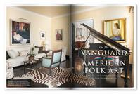 Collector's home featured in American Fine Art Magazine.