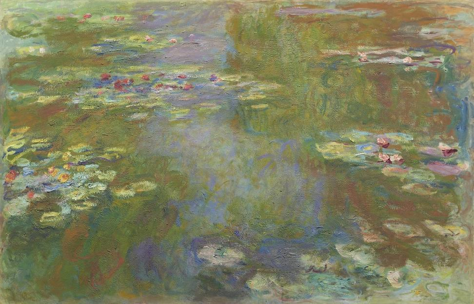"Claude Monet (French, 1840–1926) ""Water Lily Pond"" 1917-22.  130.2 x 201.9 51 1/2 x 79 1/2 in.  The Art Institute of Chicago"