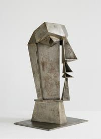 Hans Uhlmann, Male Head | Männlicher Kopf, 1942.  Steel sheet.  Lehmbruck Museum, Duisburg, FrK 4237/1995.  © 2017 Artists Rights Society (ARS), New York/VG Bild-Kunst, Bonn.  Photo: Jürgen Diemer.