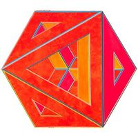 Alvin Loving (1935-2005), Septehedron 34, 1970.  Acrylic on shaped canvas, 88 5/8 × 102 1/2 in.  (225.1 × 260.4 cm).  Whitney Museum of American Art, New York; gift of William Zierler, Inc.  in honor of John I.  H.  Baur 74.65.  Courtesy the Estate of Al Loving and Garth Greenan Gallery, New York