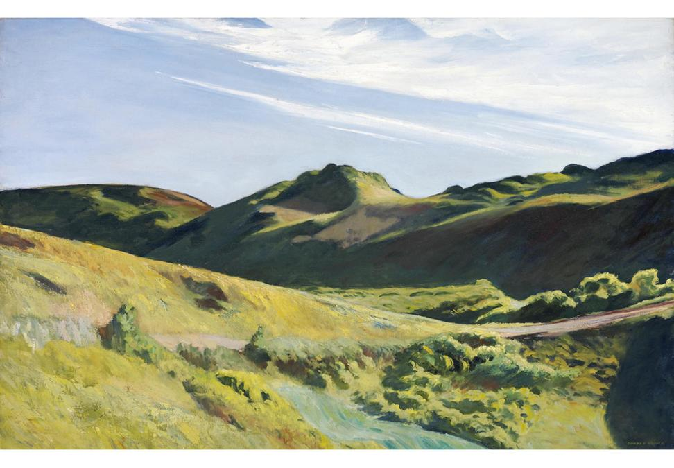 Edward Hopper, The Camel's Hump, 1931, oil on canvas, 32 1/4 x 50 1/4 in., Edward W.  Root Bequest, Munson-Williams-Proctor Arts Institute Museum of Art, Utica, NY, 57.160.  Photographer: John Bigelow Taylor and Diane Dubler