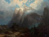 Albert Bierstadt's stunning 1872 masterpiece Mount Brewer from King's River Canyon, California is expected to bring $700,000+ as the centerpiece of Heritage Auctions Nov.  10 Western & California Art Signature® Auction.