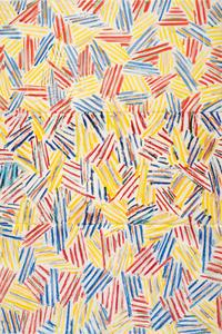Jasper Johns, American, born 1930.  Corpse, 1974-1975.  Ink, oil stick, pastel, and graphite pencil on paper.  Sheet: 42 ¾ × 28 ½ in.  Bequest of David Whitney
