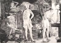 Peggy Bacon, Close Quarters, 1932, drypoint