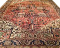 "This antique Persian Heriz Serapi, measures 9'4"" x 11'8"" and is expected to sell for $2,500-3,500."