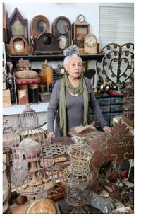 Betye Saar in her Los Angeles studio, 2015; photo: Ashley Walker; courtesy of the artist and Roberts Projects, Los Angeles