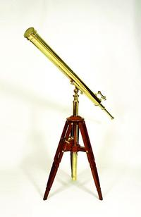 Monumental refractor telescope by Marc Francois Louis Secretan.  Paris, late 19th century.