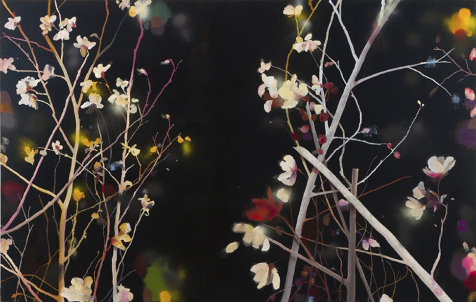 Andrew Taylor, Outside: San Fernando Night II, 2012, oil on linen, 52 x 80 in.