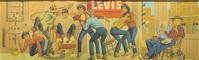 "A 29"" x 8 ft.  Levi's lithograph ad of Levi's adds fun to Witherell's upcoming May 2 - 16 auction."