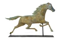 Size and surface helped propel this full-bodied copper weathervane to a price of $12,925 during Garth's March 11-12 Americana auction.