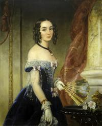 Christina Robertson (Scottish, 1796–1854) Princess Elena Pavlovna Belosselsky-Belozersky, ca.  1839.  Oil on canvas, 43 1/4 x 35 1/4 inches.  Promised gift of Marina Belosselsky-Belozersky Kasarda