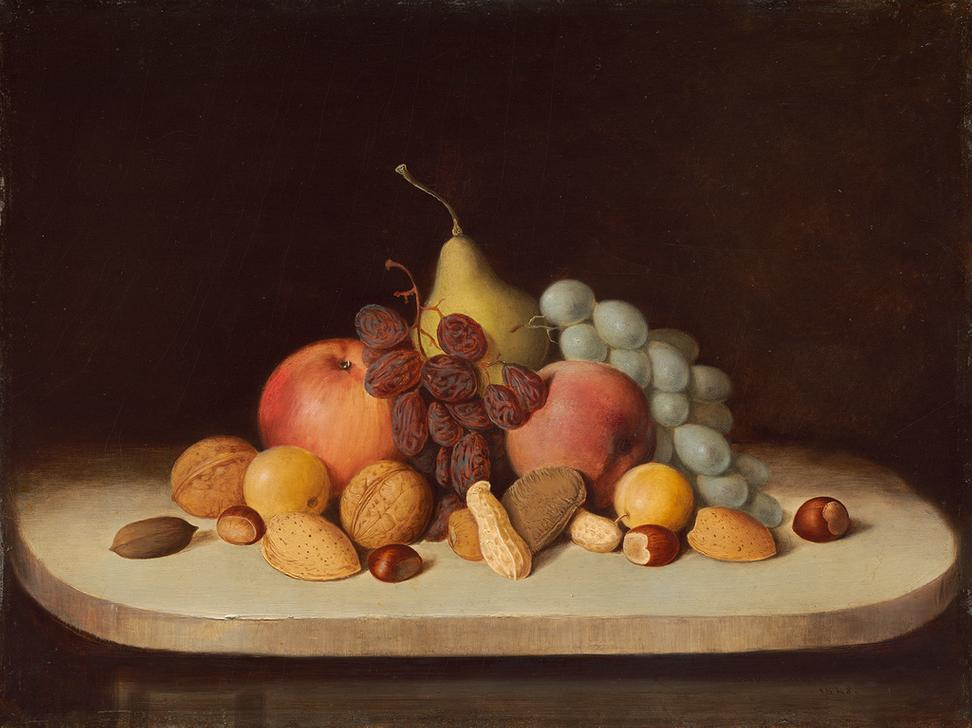 Robert Seldon Duncanson, Still Life with Fruit and Nuts, 1848, oil on board, National Gallery of Art, Washington, Gift of Ann and Mark Kington/The Kington Foundation and the Avalon Fund