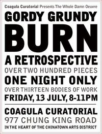 "Gordy Grundy ""BURN"" One Night Only at Coagula Curatorial"