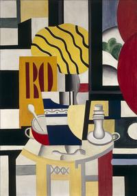 Still Life with Candlestick by Fernand Leger (1922).