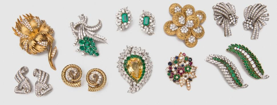 A selection of jewelry lots from Grogan & Company's 30th Anniversary Auction.